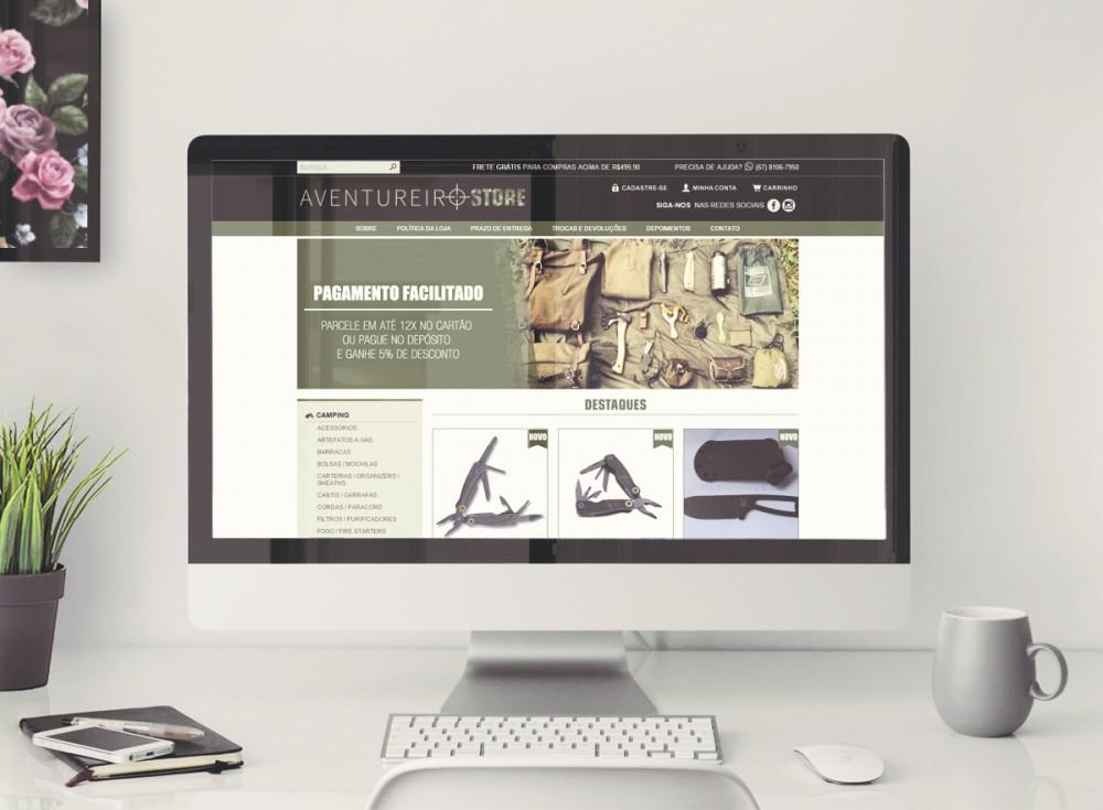Desenvolvimento da loja virtual mais logotipo e identidade visual