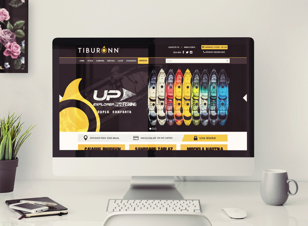 template personalizado na xtechcommerce - tiburonn inicio