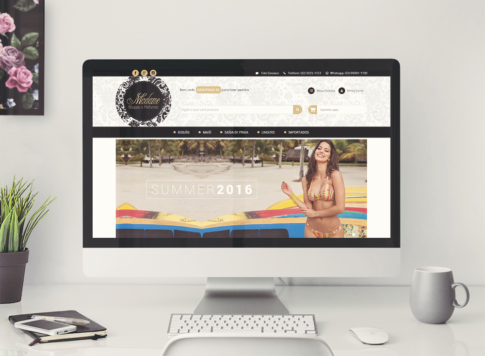 Desenvolvimento de layout e logotipo loja integrada