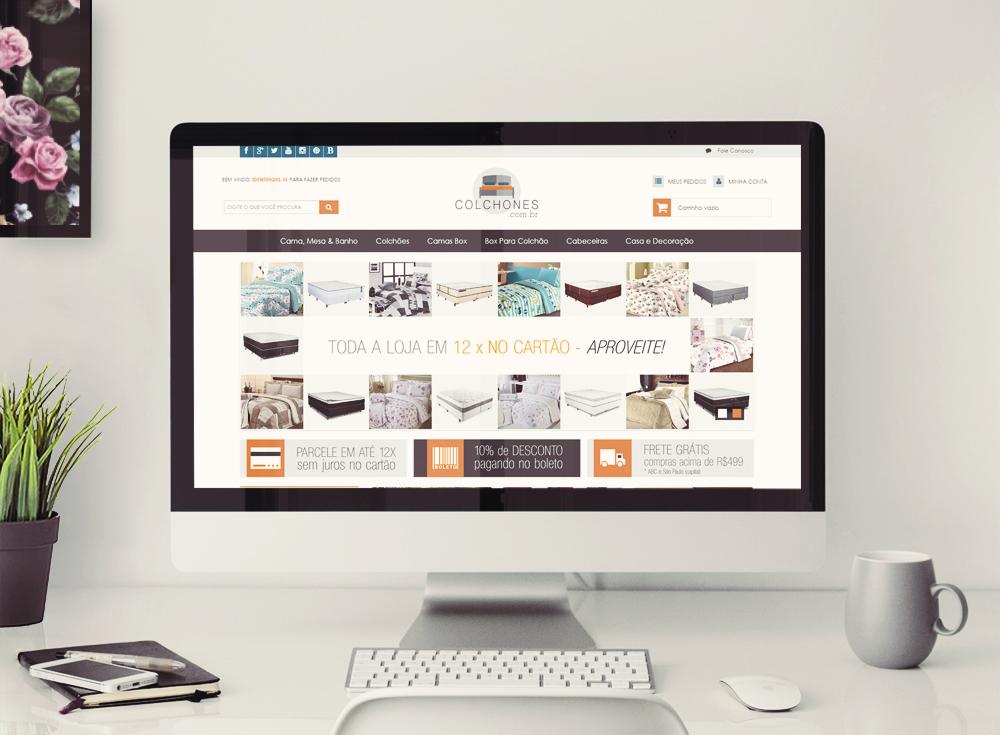Layout para loja integrada - Colchones pagina inicial